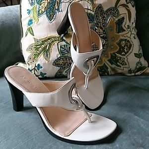 White Anne Klein high heel Sandal